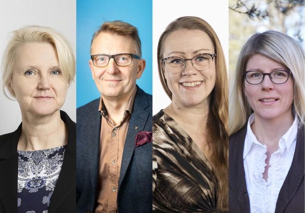Kuvassa ovat Minna Nore, Markku Kivinen, Taru Anttila ja Riikka Piispa.